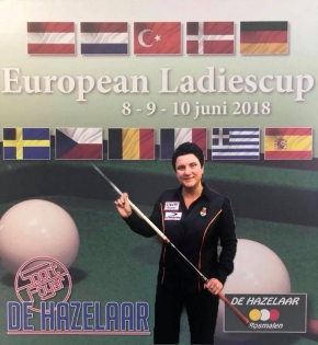Therese for the triple in ladies cup