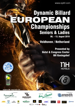 Dynamic Billard EPBF European Championships for Seniors and Ladies