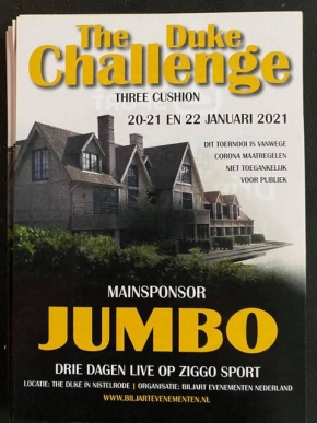 Jumbo Challenge with world top definitely goes on