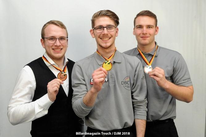 Doppelsieg für Blondeel's; Dreiband-Gold an Marcel Back