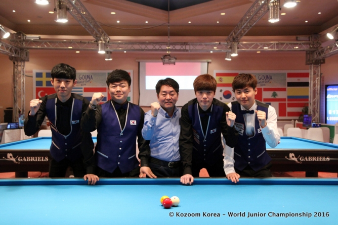 Spanish champion in a battle with three Koreans