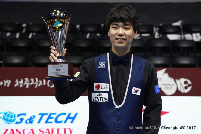 Haeng-Jik Kim in champions gallery after World Cup win
