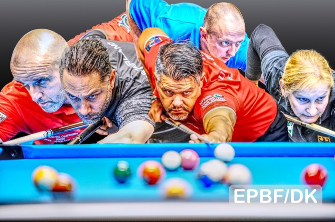 Correia, Worung, Habo, Keller and Wessel all on their way in 8-ball