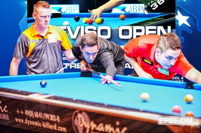 Lechner shocks Alcaide and eliminates him from the Dynamic Billard Treviso Open