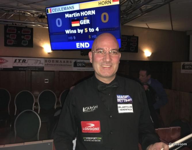 Martin Horn im Finale gegen Coklu