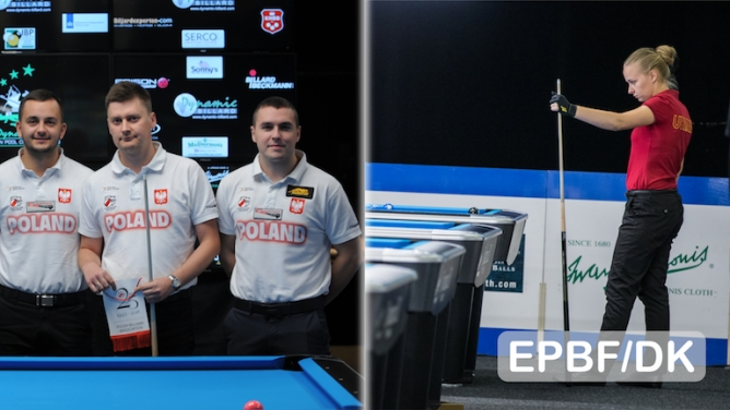 Team competition dominated day nine of the Dynamic Billard European Pool Championships