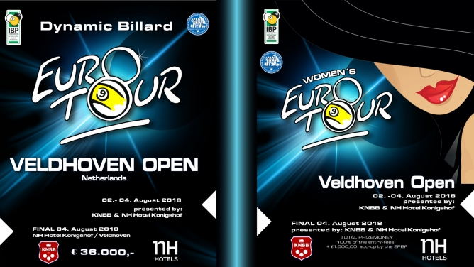 Men's and Women's Euro-Tour starting simultaneously tomorrow