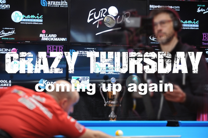 "Final Euro-Tour stop in 2018 features another ""Crazy Thursday"""