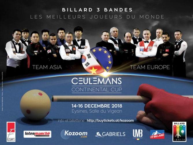 Europe-Asia clash in first Ceulemans Cup