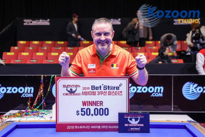 Caudron plays poker and wins jackpot in Korea