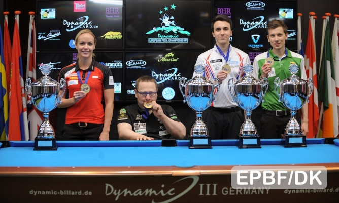 9-ball titles awarded at the final day of the European Championships