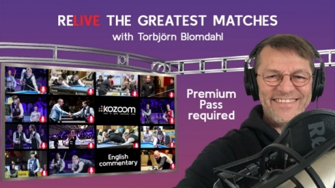 Kozoom shows recent top matches with Blomdahl comments