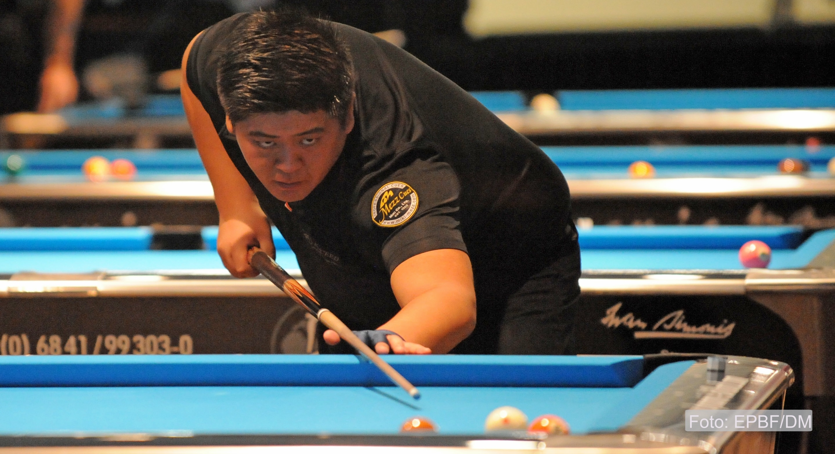 US Pool Billiard He eliminates Chamat and Drago for a seat in the