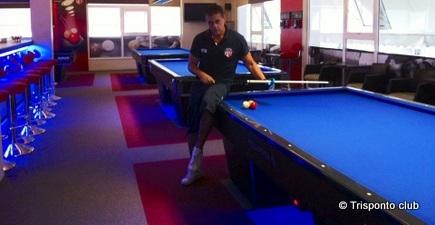Carom Billiard Giannis Papadakis Opens New Billiards Room