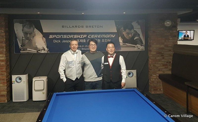 Billards Breton carom billiard jaspers signs lucrative contract in korea 3-cushion