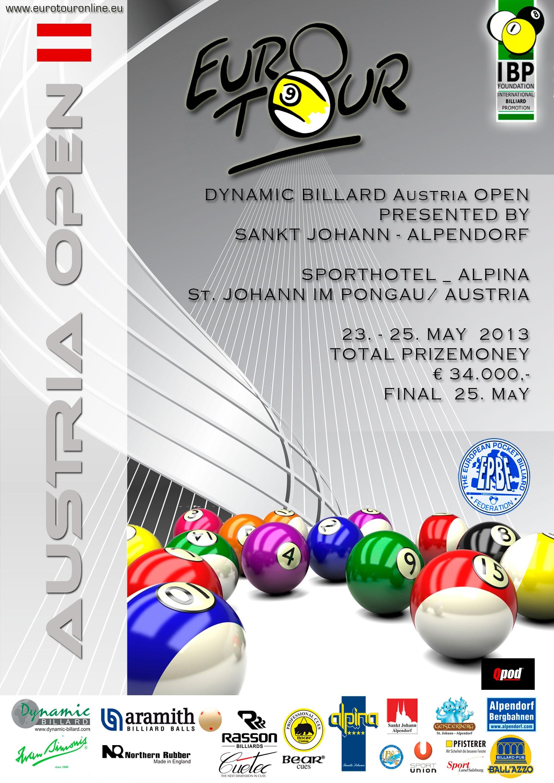US Pool Billiard Dynamic Billard Euro-Tour continues in