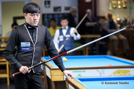 Cơ thủ trẻ Hàn Quốc Kim Jun Tae có ba trận toàn thắng ở bảng G - Nguồn: Kozoom
